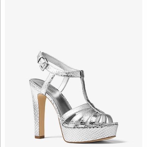 Michael Kors Silver Platform Heels
